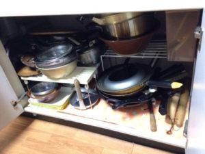 キッチン内の収納部