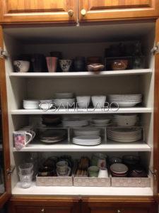 【実例④-3】ダイソーグッズで美しい食器棚へ
